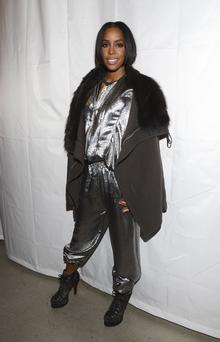 Singer Kelly Rowland attends MM6 Maison Martin Margiela presentation during Mercedes-Benz Fashion Week Fall 2014 at Skylight Modern