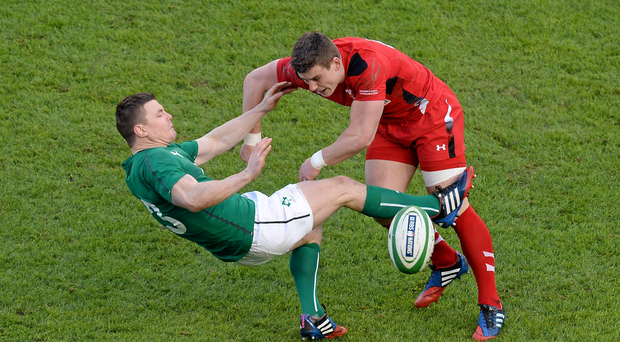 Scott Williams will miss the rest of the Six Nations after this attempted tackle on Brian O'Driscoll