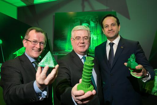 Niall Gibbons, CEO of Tourism Ireland; Tánaiste and Minister for Foreign Affairs and Trade Eamon Gilmore TD; and Minister for Transport, Tourism and Sport Leo Varadkar TD.