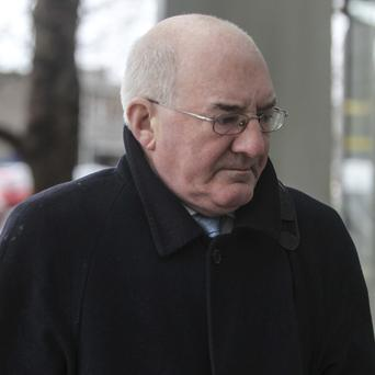 Former Finance Director of Anglo Irish Bank Willie McAteer arriving at the Dublin Circuit Criminal Court today. Photo: /Phtotocall Ireland