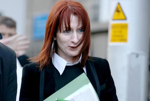 Independent TD Clare Daly leaving court after pleading not guilty to driving without consideration for others at the Dublin Port Tunnel. Picture: Courtpix
