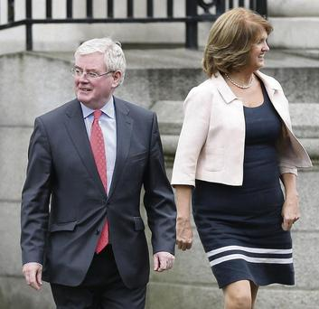 Eamon Gilmore is at odds with with Labour deputy leader Joan Burton