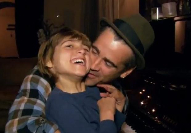 Colin Farrell pictured with his son James who has Angelman Syndrome