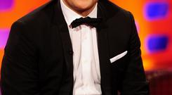 Robbie Williams during filming of the Graham Norton show at the London studios as the singer has admitted he has undergone a hair transplant Ian West/PA Wire...E