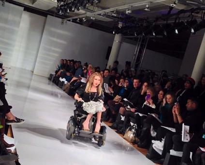 Danielle Sheypuk posted this picture to her Instagram of her taking to the catwalk