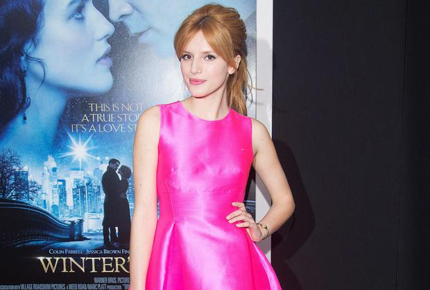 Actress Bella Thorne arrives for the premiere of the movie