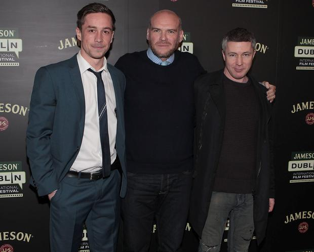 Jillian Scott, director John Michael McDonagh and Aidan Gillen at opening of The Jameson Dublin International Film Festival 2014 with The Irish Premiere screening of Brendan Gleeson's new film 'Calvary' at The Savoy Cinema, Dublin. Pictures:Brian McEvoy