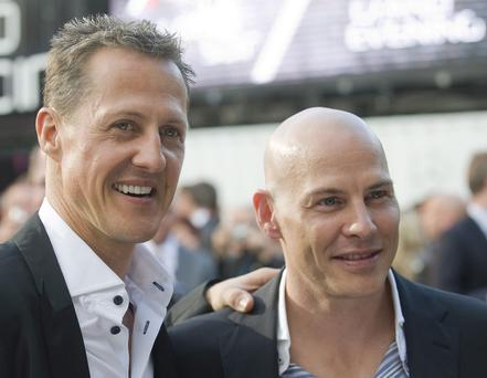 Michael Schumacher and Jacques Villeneueve