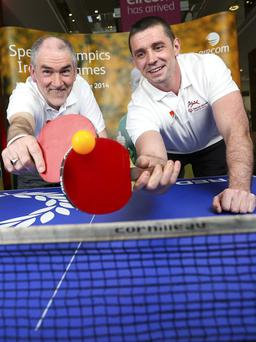 Mickey Harte and Alan Quinlan were at the launch of the Special Olympics Ireland Volunteer drive at eircom headquarters in HSQ 3,000 volunteers are required to support the sports charity's Games in Limerick in June