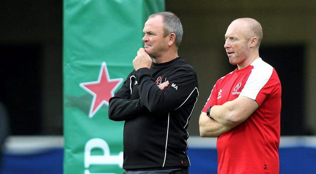 Neil Doak (right) is viewed by Ulster as a long-term successor to current Ulster coach Mark Anscombe