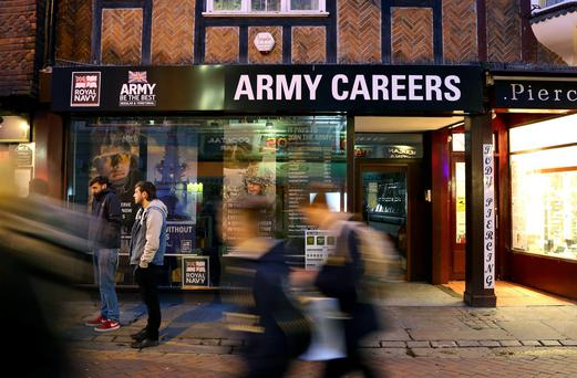 The Army Careers office in Canterbury, Kent, one of the armed forces recruitment offices where suspected explosive devices have been found. Picture: Gareth Fuller/PA Wire