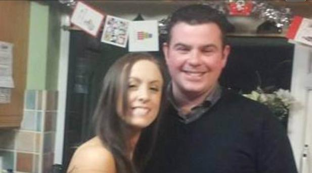 Cathal Reilly with his partner Sinead Clinton.