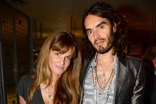 Jemima Khan and her boyfriend Russell Brand
