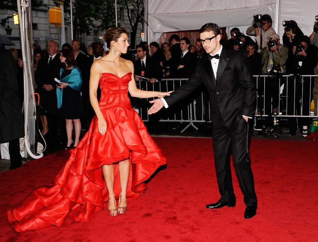 Actress Jessica Biel and musician Justin Timberlake