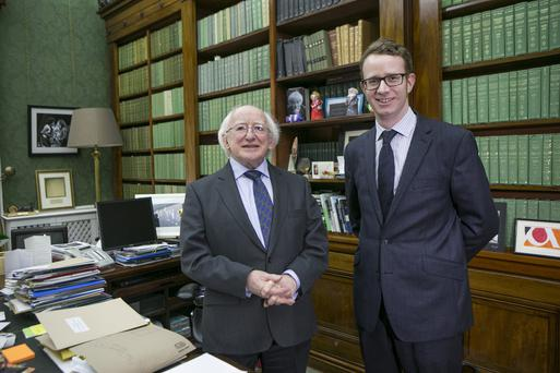 President Michael D Higgins during an Interview with Irish Independents Environmental Corr Paul Melia