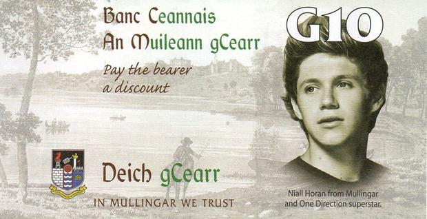 The 'Gar' with Niall Horan's face on it Photo: Facebook/Mullingar Chamber