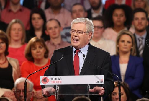 Tanaiste Eamon Gilmore delivers his keynote speech at the Labour Party Ard Fheis at the Johnstown House Hotel in Co Meath Niall Carson/PA Wire