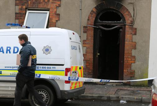 The scene of the house fire in Thomondgate, Limerick, which hospitalised five people. LIAM BURKE/PRESS 22