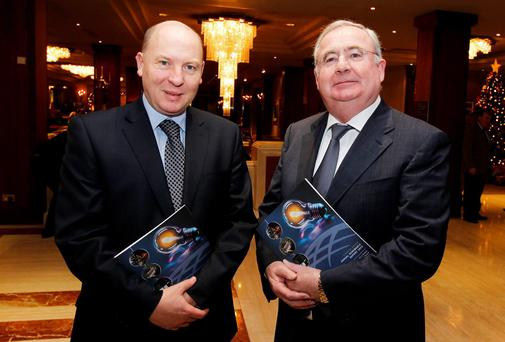 Fintan Slye (Chief Executive, Eirgrid Group) and Minister for Communication, Energy and National Resources; Pat Rabbitte TD. Pictures: Maxwell