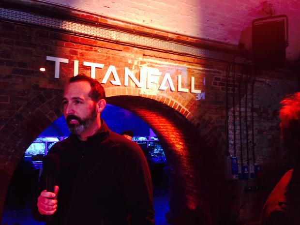 Titanfall lead artist Joel Emslie at the preview event in London last week