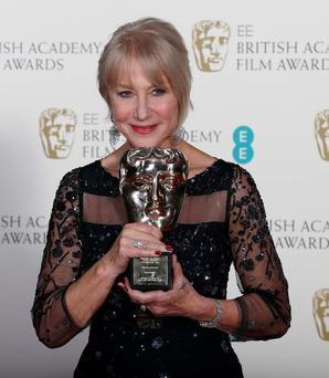 Helen Mirren won the Fellowship award. Photo: Reuters/Suzanne Plunkett