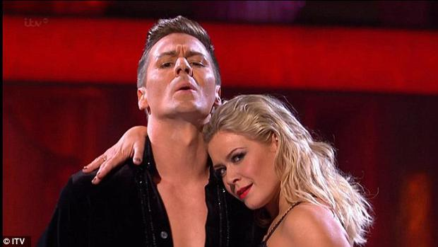 Suzanne Shaw with partner Matt Evers on ITV's 'Dancing On Ice' Pic: ITV