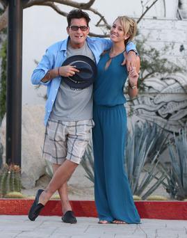 Semi-Exclusive... 51275244 Actor Charlie Sheen seen locking lips with his new porn star girlfriend Brett Rossi outside the Hotel El Ganzo in Cabo San Lucas, Mexico on November 30, 2013. FameFlynet, Inc - Beverly Hills, CA, USA - +1 (818) 307-4813