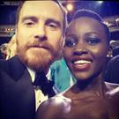 Michael Fassbender and Lupita Nyongo at Bafta awards