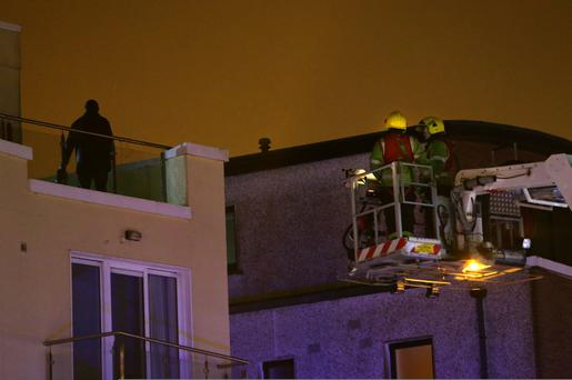 A major garda operation was put in place in Galway city this evening after a man threatened to set himself alight on a city rooftop.