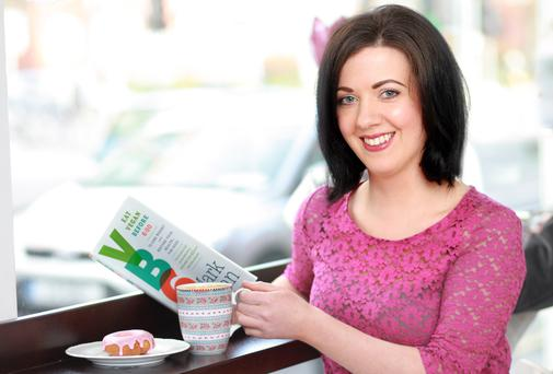 Flashing the V-card: Deirdre Reynolds tries out the 'Vegan before 6' diet. Photo: Ronan Lang.