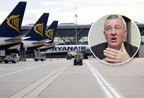 Ryanair deputy chief executive Michael Cawley said the airline hoped to operate 600 aircraft within the next 15 years. Photo: Collins