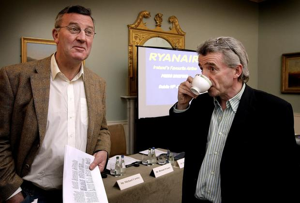 Michael Cawley with his boss Michael O'Leary.