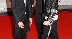 LONDON, ENGLAND - FEBRUARY 19: Zayn Malik and Niall Horan attend The BRIT Awards 2014 at 02 Arena on February 19, 2014 in London, England. (Photo by Anthony Harvey/Getty Images)