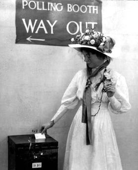 Suffragete Emmeline Pankhurst: refused to allow herself to be a second class citizen.