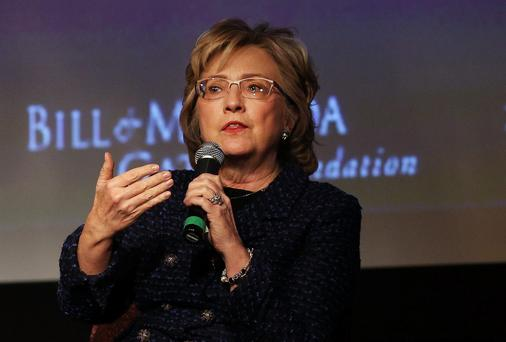Hillary Clinton: said women need to grow skin as thick as a a rhinoceros. Photo: Getty Images