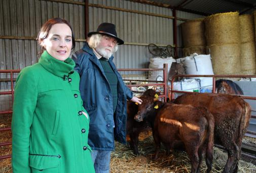 Ella with Ear to the Ground presenter Ella McSweeney and Sligo farmer Henry Judge