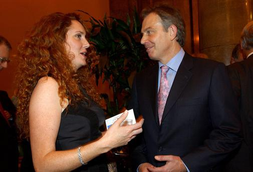 Former British prime minister Tony Blair with former News International Chief Executive Rebekah Brooks
