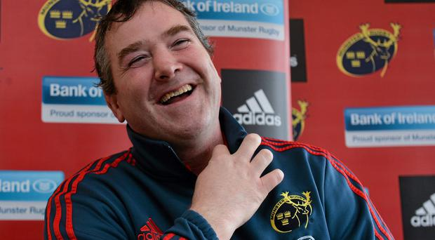 Anthony Foley was all smiles in Limerick esterday following confirmation he is to succeed Rob Penney as Munster coach
