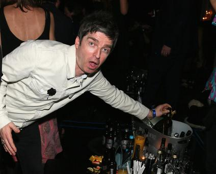 Noel Gallagher attends The BRIT Awards 2014 Warner Music After Party at The Savoy Hotel
