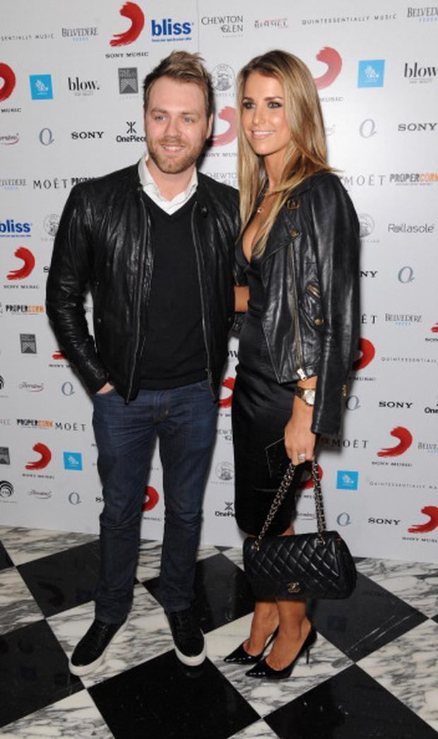 Brian McFadden and Vogue Williams attend The BRIT Awards 2014 Sony after party