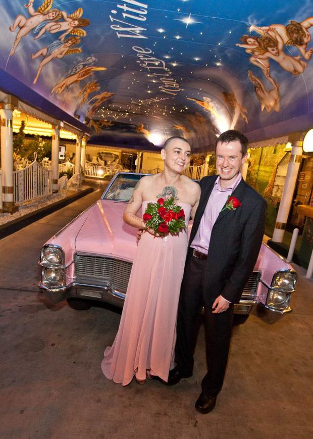 Sinead and Barry pictured at their 2011 wedding in Las Vegas