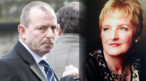 Matthew O'Neill at the inquest of his wife Kathleen (right) at Galway Coroners Court. Photo: Andrew Downes
