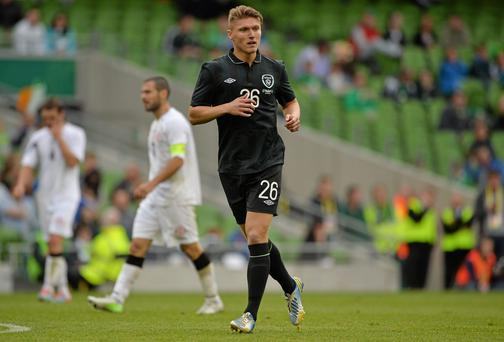 Jeff Hendrick for Noel King's U-21 Ireland side