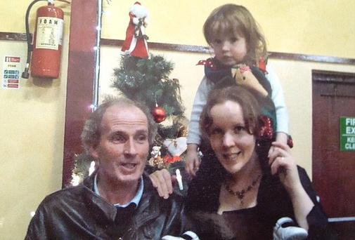 Martin McCarthy with wife Rebecca and daughter Clarissa