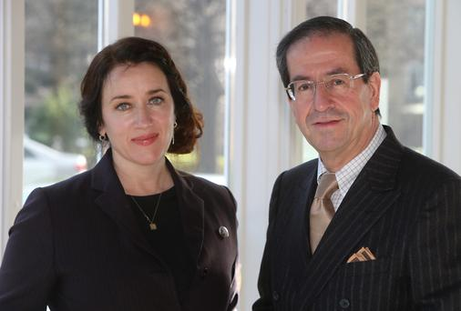 Actress Maria Kennedy Doyle pictured with Miguel A Solano Lopez. Picture: Colin O'Riordan