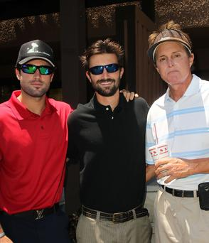 Bruce Jenner with his sons Brody (left) and Brandon (right)