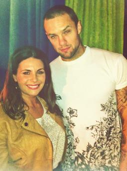 Xpose presenter Lisa Cannon tweeted this photo of her and Bressie after he shaved his head