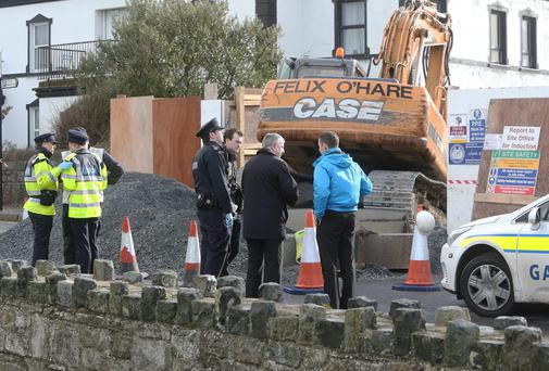 The scene of the fatal accident at Harbour Road, Skerries.