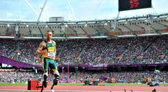 Oscar Pistorius is known as the Blade Runner for his prosthetic legs