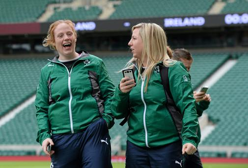 Ireland's Fiona Hayes and Stacey Lea Kennedy